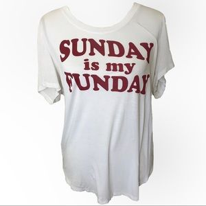 3/$15 Fifth sun white & red graphic t-shirt